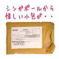 シンガポールから怪しい小包が届きました。